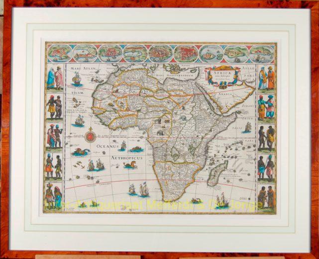 Africa Antique Map Africa Antique Map