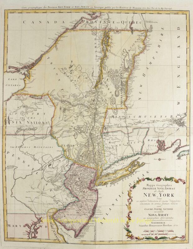 New York and New Jersey – Homann Heirs, 1778