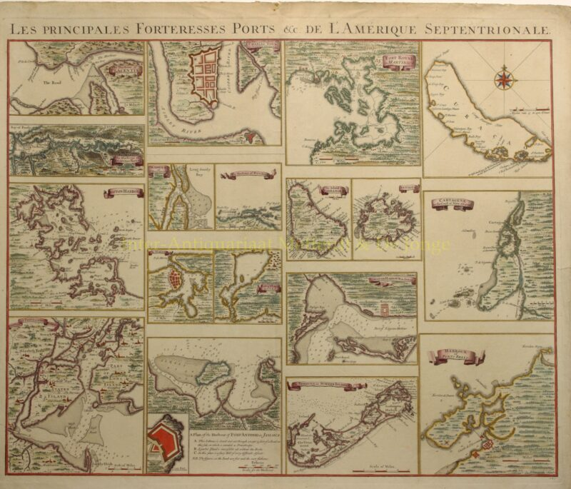American ports, West-Indies – Covens & Mortier, c. 1740