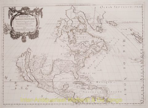 North America antique map – Sanson