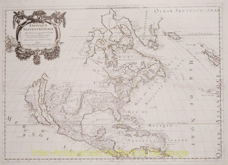 North America antique map – Sanson