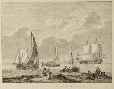 Amsterdam , Het IJ, Pampus – Matthias de Sallieth naar Abraham Storck, 1785-1791