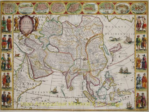 Asia antique map – Willem Blaeu, 1640