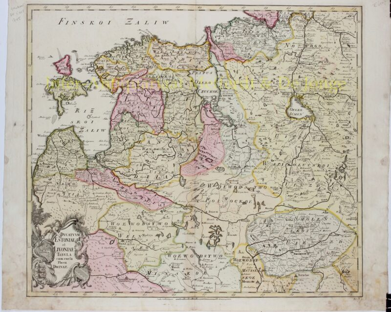 Baltics, Estonia, Lithuania – Joseph-Nicolas De l'Isle, 1745