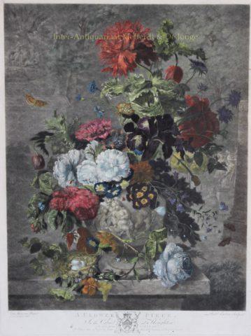 Bloemstilleven naar Jan van Huysum, 1778