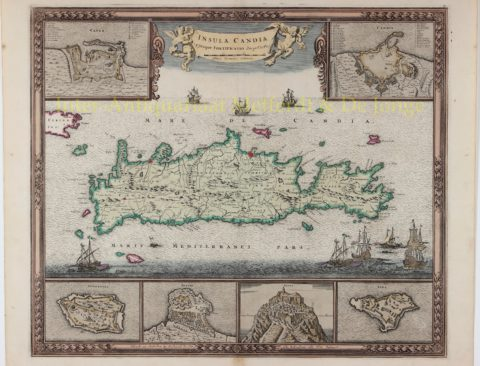 Map of Crete – Frederick de Wit, c. 1680