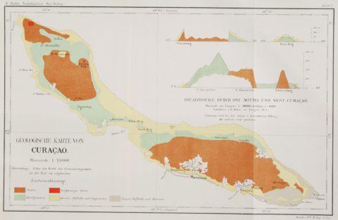Curaçao antieke kaart