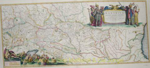Danube map – Blaeu, c. 1640