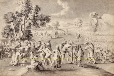 Druivenoogst – anoniem, ca. 1820
