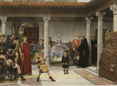 Education of the Children of Clothilde and Clovis – Alma-Tadema, 1861