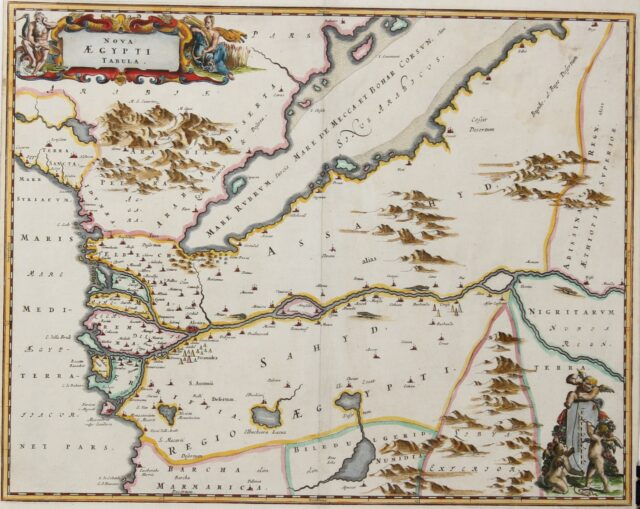 antique map Egypt and the Gulf