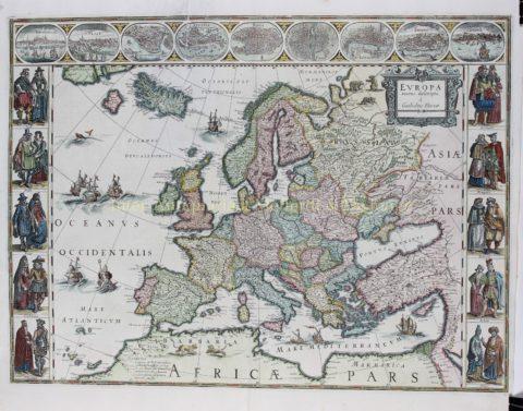 Europe – Willem Blaeu, 1630