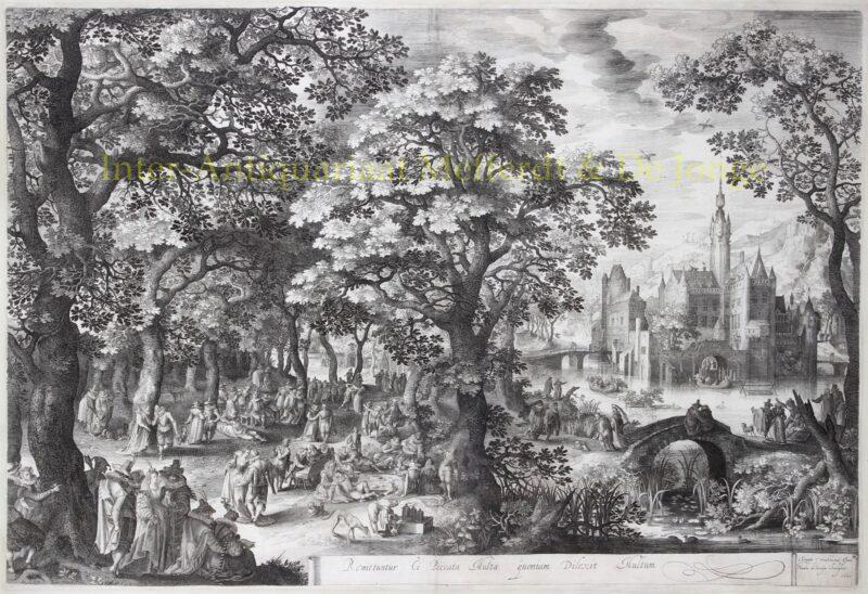 Boslandschap – David Vinckboons / Nicolaes de Bruyn, 1601