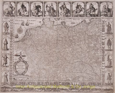 Antique Germany map – Janssonius, 1626