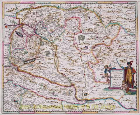 Hungary antique map – Danckerts, 1684
