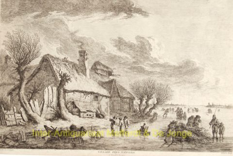 ijsgezicht nabij Antwerpen, Dutch winter scene,1775