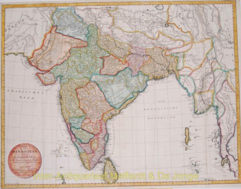 India antique map – Mannert, 1804