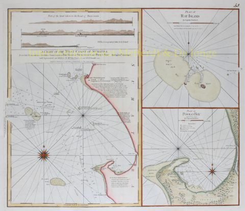 Indonesia, West Coast of Sumatra – Laurie and Whittle, 1794