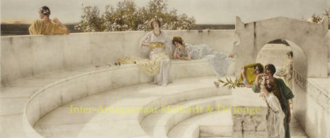 UNDER THE ROOF OF BLUE IONIAN WEATHER – Alma-Tadema, 1901