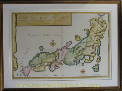 Japan map – Durant after Tavernier