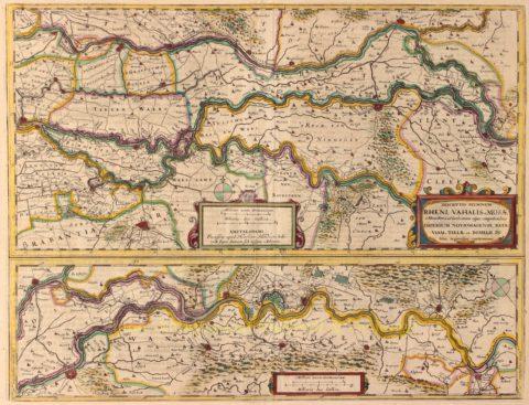 Gelderland, Betuwe, Grote Rivieren – Henricus Hondius, 1639-1642