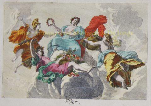 Vier jaargetijden – naar Gerard de Lairesse, 18de eeuw
