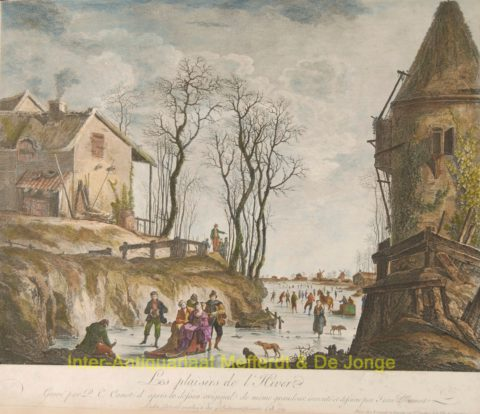 ijsgezicht, winter scene – Canot after Jean-Baptiste Pillement