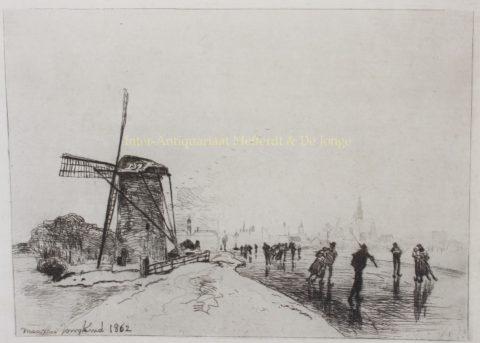 Maassluis, skating view – Johan Barthold Jongkind, 1862