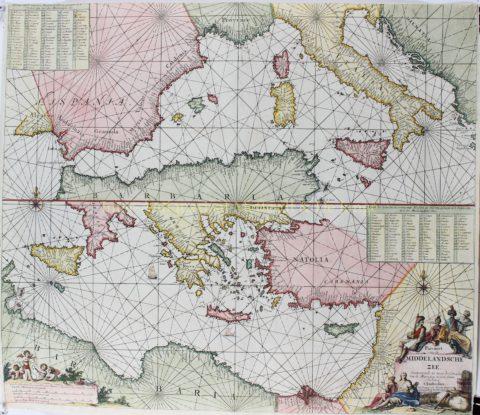 Middellandse Zee – Johannes van Keulen, 1680-1700