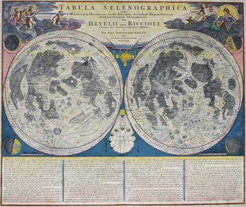 Maankaart – Homann, Doppelmayr, Hevelius, 1742/48