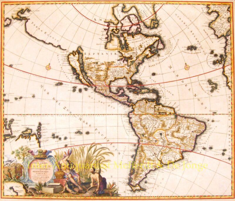 North and South America – Carolus Allard, c. 1697