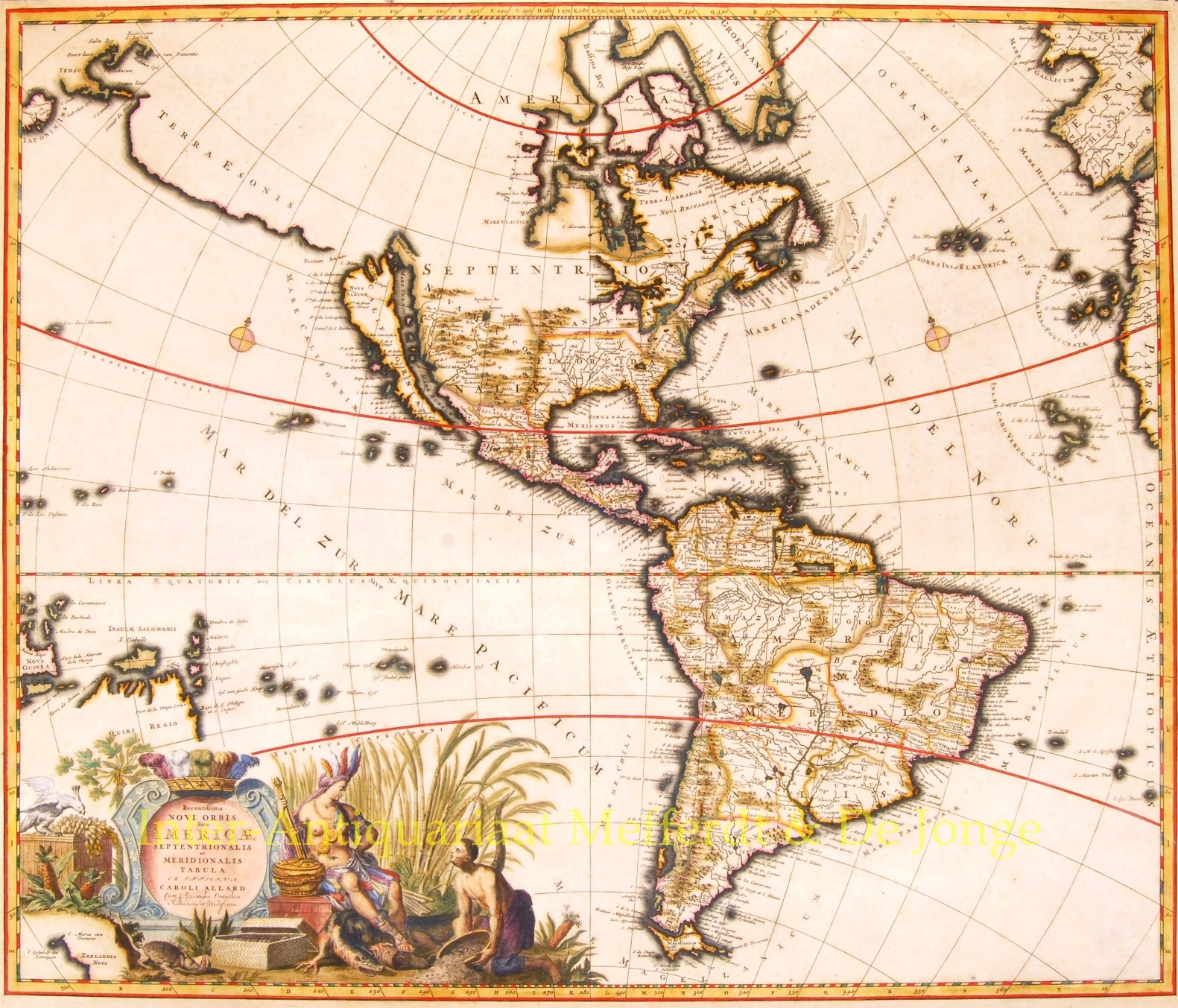 Rare map of north and south america allard engravingrare map of north and south america freerunsca Images