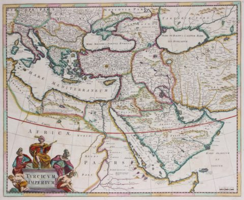 Ottoman Empire map – Frederick de Wit, c. 1680