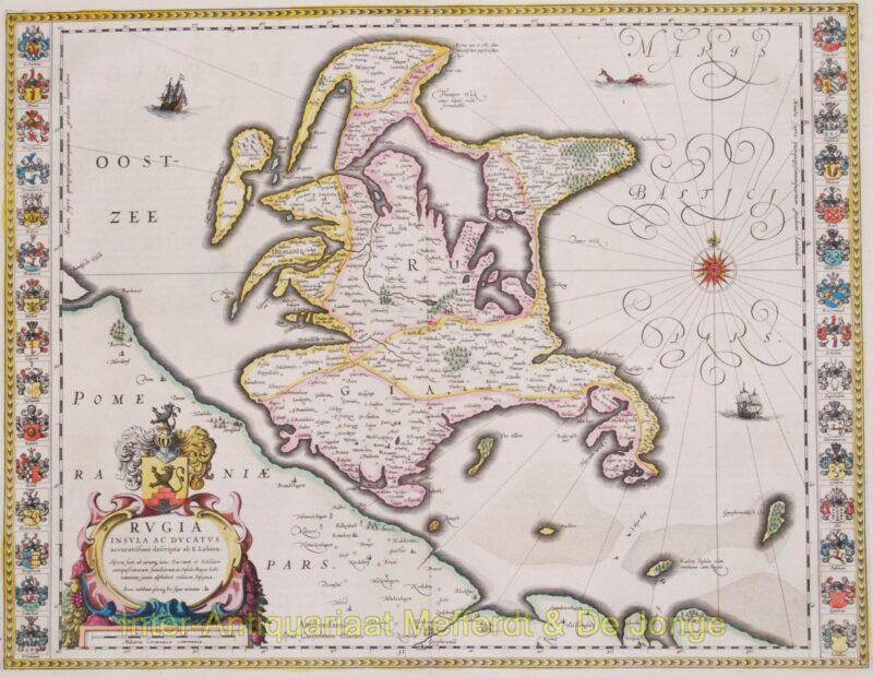 Rügen antique map – Blaeu