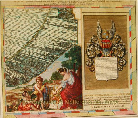 Rotterdam Hillegersberg, Berkel-Rodenrijs, Ackerdijkse Plassen – Cruquius, 1712