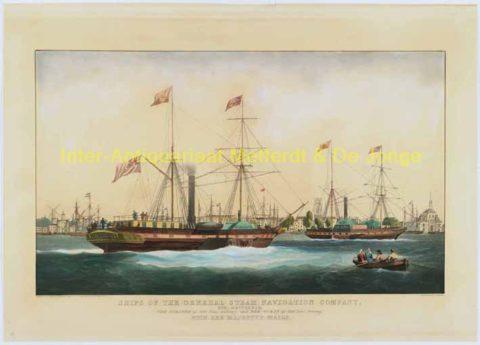 havengezicht Rotterdam anno 1842