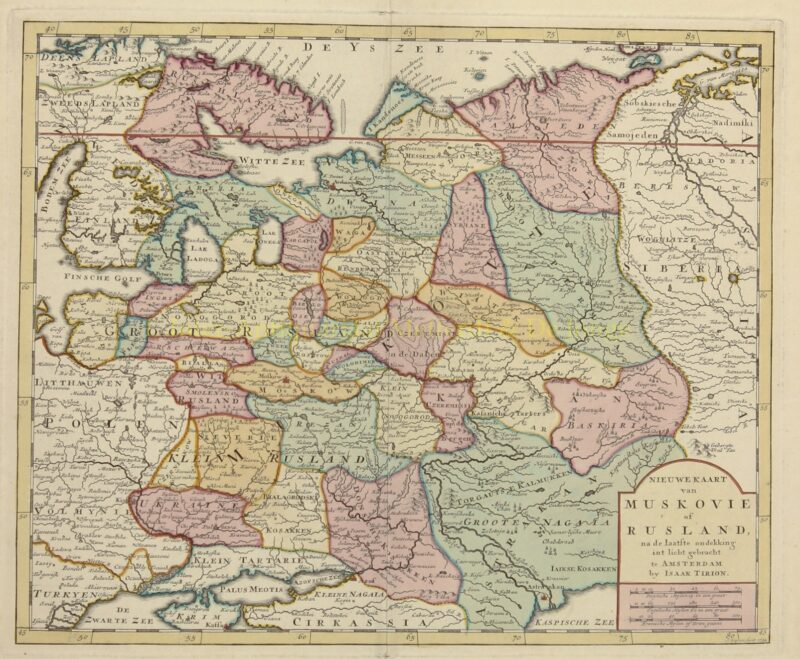Russia – Isaak Tirion, 1734