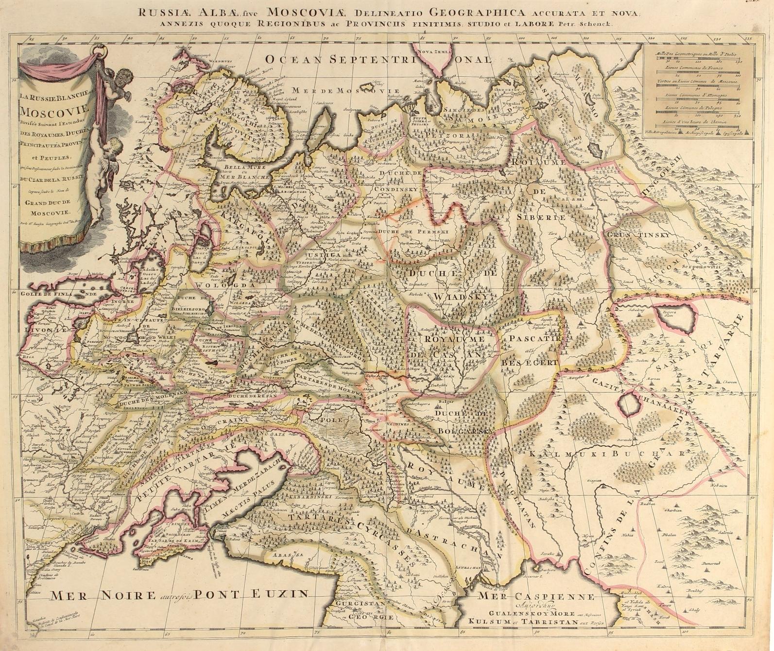 Antique Map Russia Antique Map Russia
