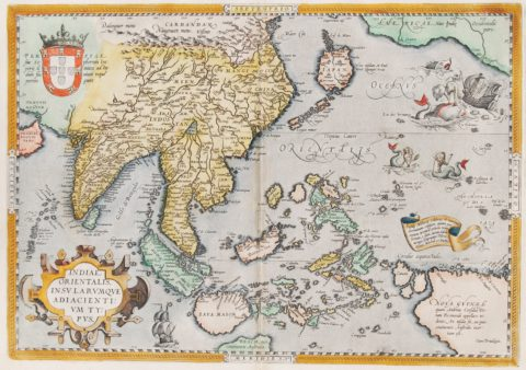 Southeast Asia map – Ortelius, 1587