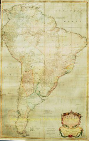 Latin America, antique wall map – Thomas Kitchin