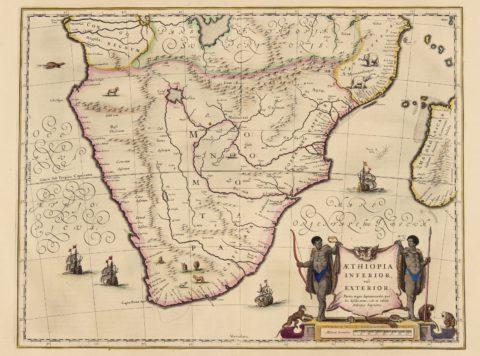 Southern Africa – Blaeu, 1635