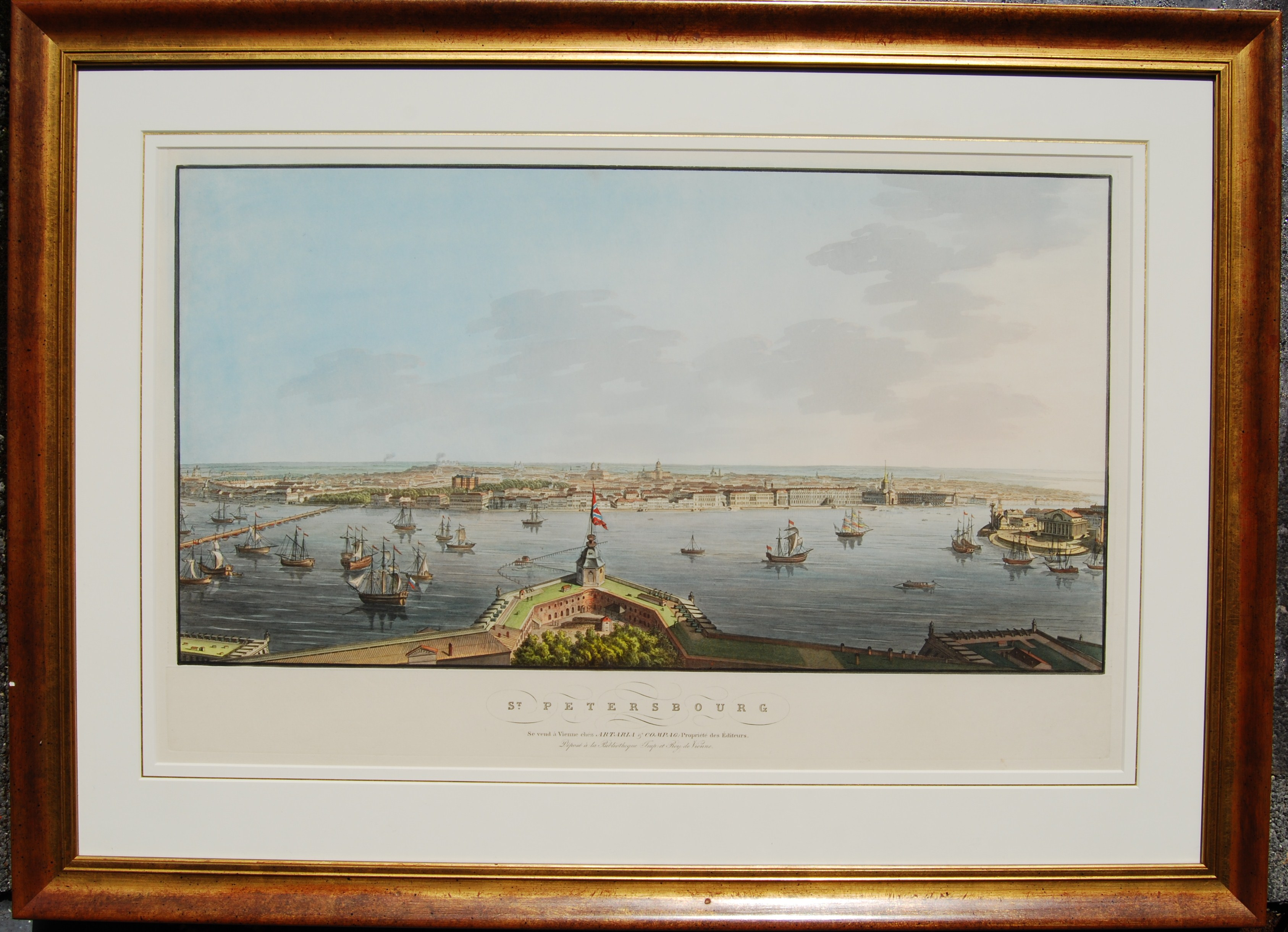 St Petersburg Original Rare 19th Century Lithography St Petersburg