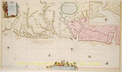 Suriname paskaart – Van Keulen