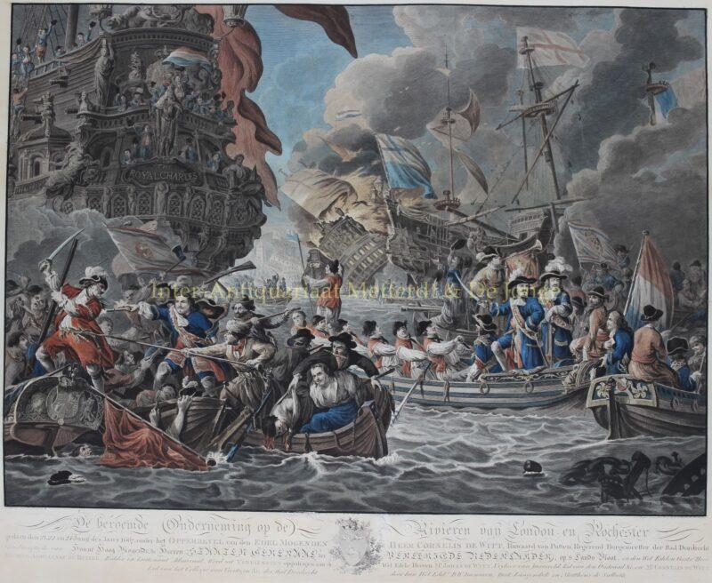 De tocht naar Chatham / Raid on the Medway – Matthias de Sallieth naar Dirk Langendijk, 1782