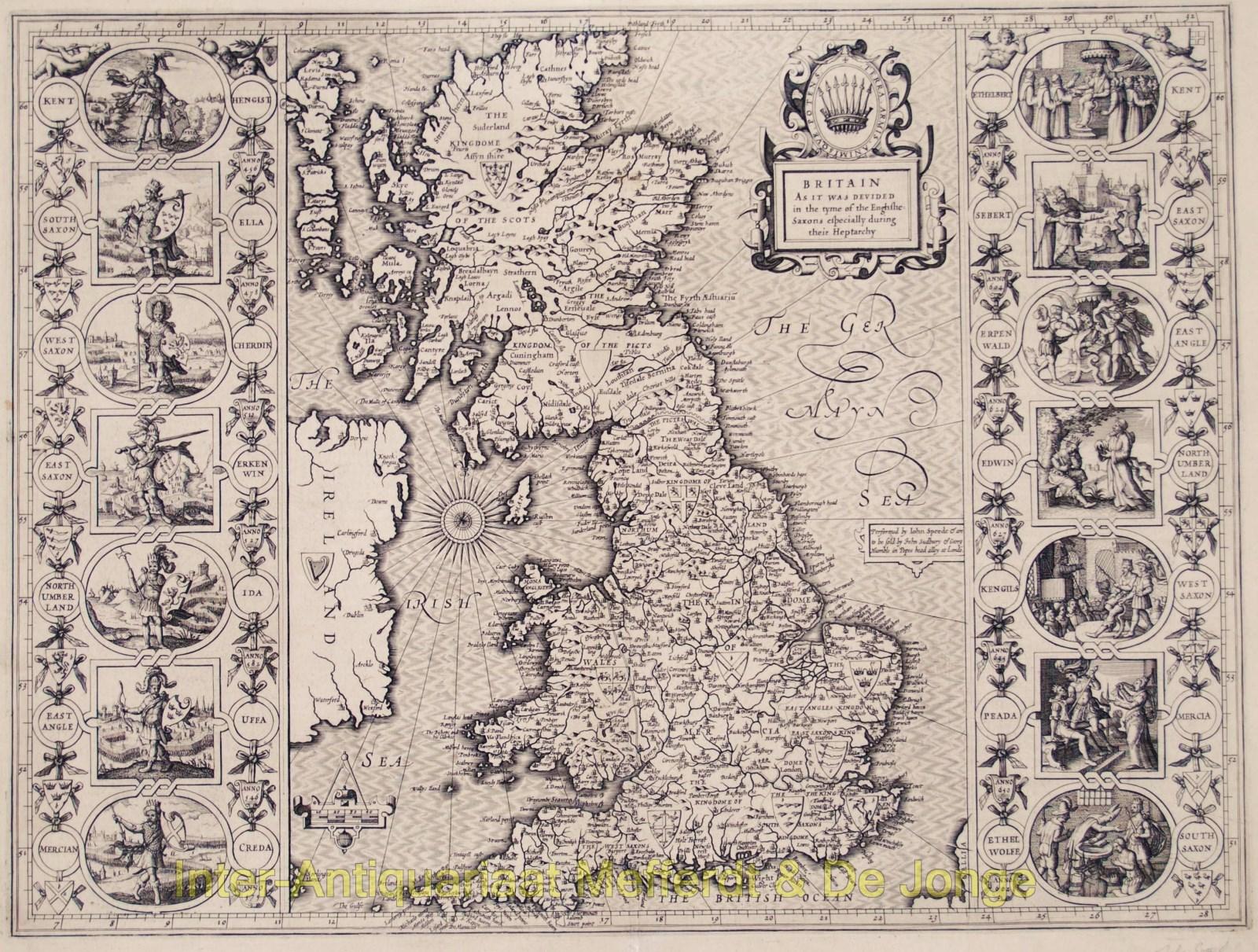 rare original antique map Great Britain