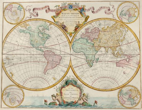 World map – Guillaume De L'Isle (Covens & Mortier), 1745