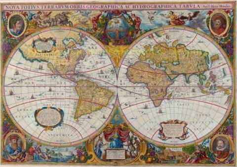 Wereldkaart – Mercator, Hondius, Janssonius, 1641