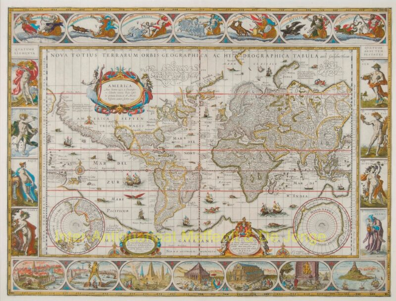 World map – Willem Bleau, 1606 or later