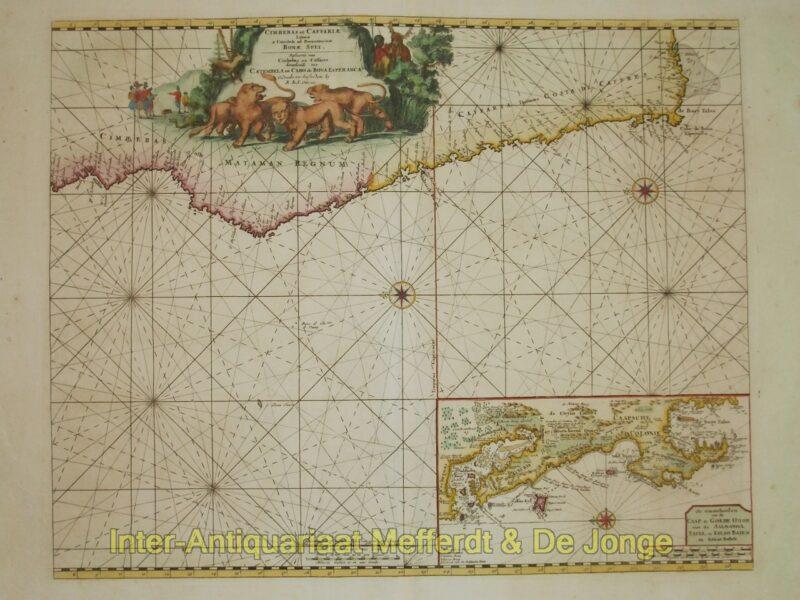 Zuid-Afrika, Kaap de Goede Hoop – Ottens, ca. 1680