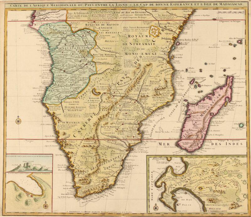 Southern Africa, Cape of Good Hope – Visscher/De Leth, c. 1740